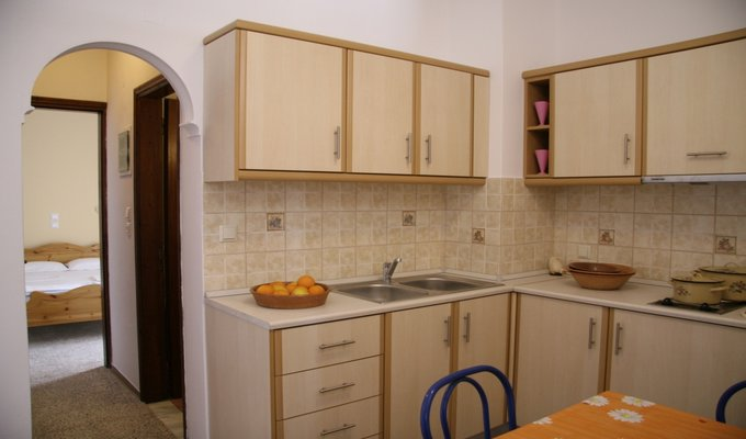 two bedrooms apartment kitchen